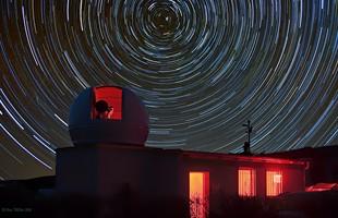 First Opening der Sternwarte beim HTT 2010, © Uwe Müller.