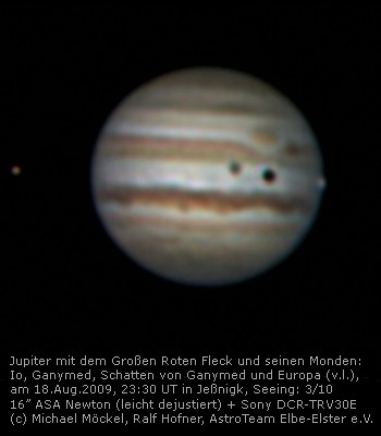 Jupiter mit 3 Monden auf dem 3.ATS